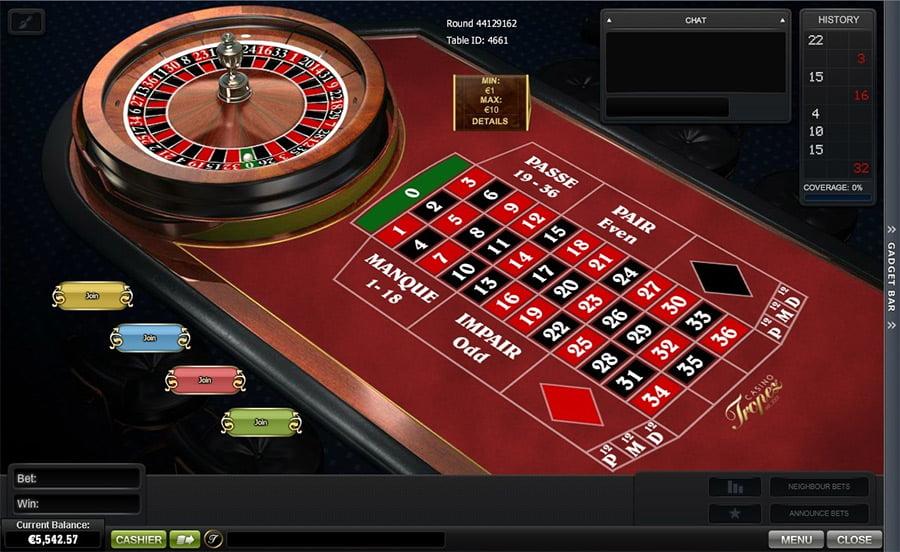 tropez.casino.roulette.tisch